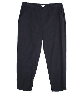 Eileen Fisher Womens Pants Black Size Small S Slim Ankle Leg Stretch $138- 037