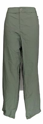Charter Club Women's Plus Sz Pants 24W Bottom Solid Chino Green