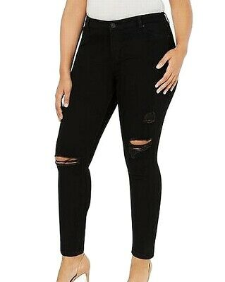 Celebrity Pink Womens Jeans Black Size 20 Plus Stretch Skinny Ripped $64 208
