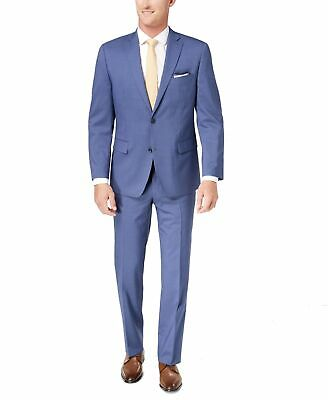 Michael Kors Mens Suit Blue Size 38 Short Classic Stripe 2-Button Wool $600 056