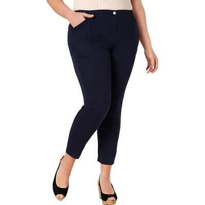 Style & Co. Womens Pants Blue Size 24W Plus Skinny Mid-Rise Stretch $59 258