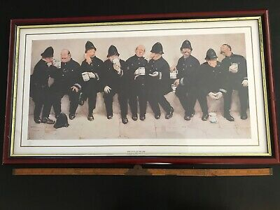 Scarce Framed Famous Metropolitan Police Print 9 Pints of the Law