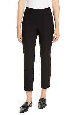 Eileen Fisher Womens Pants Black Size Medium M Zip-Ankle Leg Stretch $178 131