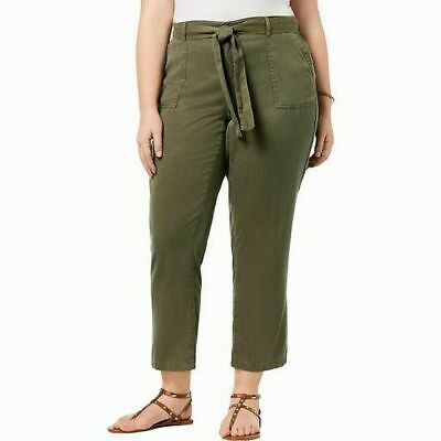 Style & Co. Womens Pants Olive Sprig Green Size 14W Plus High-Rise $59 364