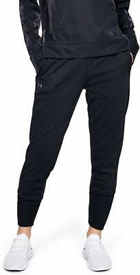 Under Armour Womens Pants Black Small S Fleece Relaxed Joggers Stretch $48 987