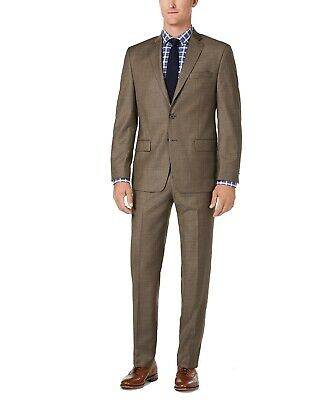 Michael Kors Men's Pant Suit Brown Size 38 Short Two Regular Fit $600 082