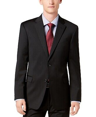 Tommy Hilfiger Mens Suit Seperate Black Size 40 Two Button Blazer $425 058