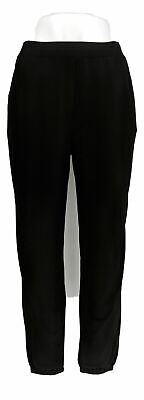Lisa Rinna Collection Women's Pants Sz XS Knit Cropped Jogger Black A341719