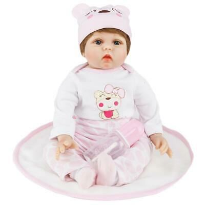 22 inch Realistic Silicone Vinyl Baby Weighted Soft Body Lifelike Doll Gift Toy