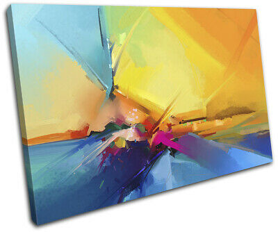 Oil Painting Abstract sea Landscapes SINGLE CANVAS WALL ART Picture Print