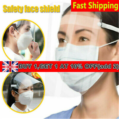 Full Face Shield Clear Flip Up Visor Oil Fume Protection Safety Work Guards