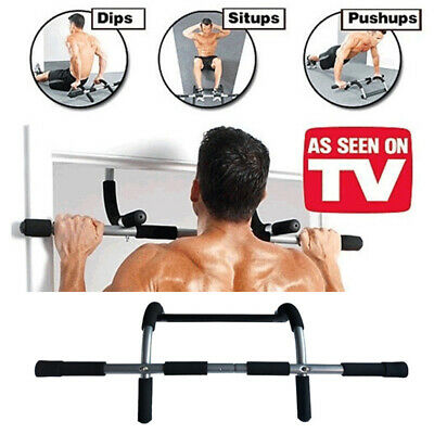 Doorway Pull Up Bar Chin Up Sit-Up Strength Body Workout Exercise Fitness Gym UK
