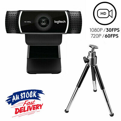 For Logitech C922 Pro Stream Webcam HD 1080P stereo Mic & Tripod (Free Postage)