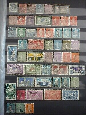 France Lot 52 Timbres Obliteres Tres Anciens. Cote 222 Euros