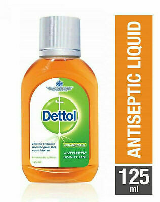 Dettol Antiseptic Disinfectant First Aid Liquid 125 ML Germs free Free Shipping