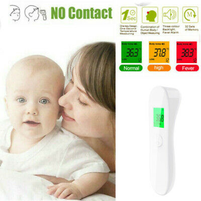 No Touch Digital IR Infrared Forehead Thermometer Gun Adult Body Temperature