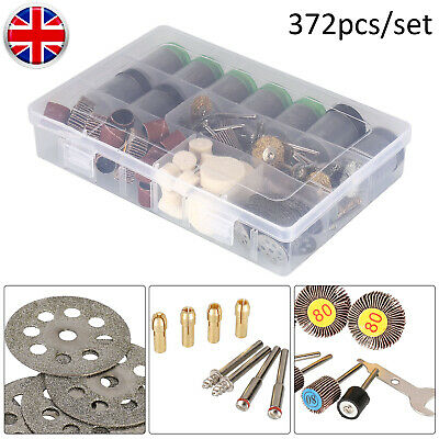 372Pc Mini Electric Rotary Drill Tool Accessories Bit Set Polishing Grinding Kit