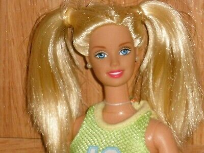 Barbie doll Blonde Hair Pigtails 1998 /Summer chic / Workout/Beachy outfit