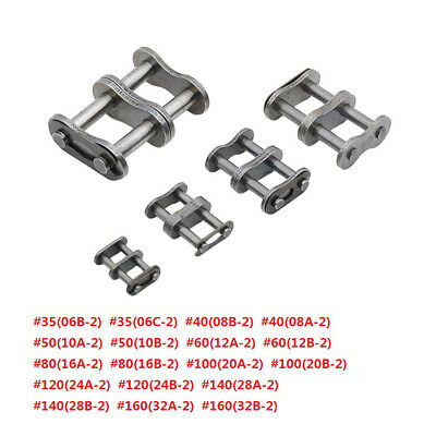 #35 #40 #50 #60 #80 - #160 Double Row Roller Chain Connecting Link Full Buckle