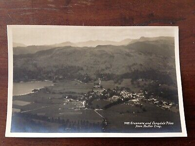 SCENIC GRASMERE AND LANGDALE PIKES Lake District TOPO POSTCARD  G P ABRAHAM
