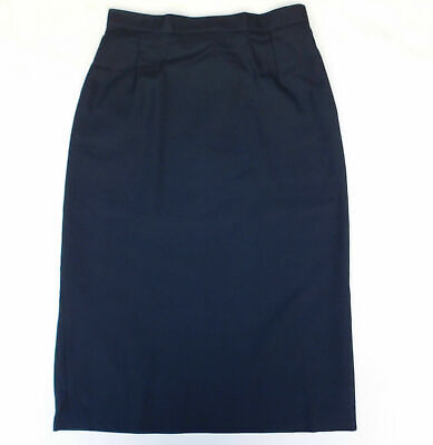 "Vintage school uniform skirt Navy Blue 1970s Banner UNUSED Waist 26"" 24"" girls D"