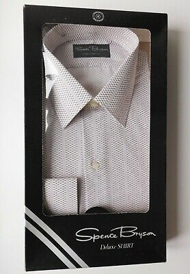Spence Bryson Deluxe patterned shirt vintage 1970s 1980s collar size 16 UNUSED