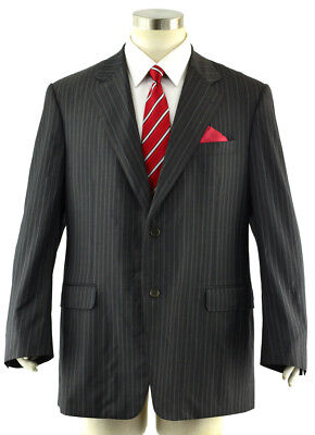CANALI Proposta Men's 44R Charcoal Gray Striped Full Canvas Dinner Suit Jacket