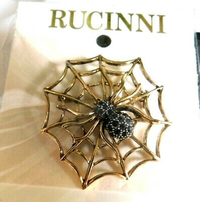 Rucinni Spider In Web Brooch ,Pin,New In Original Packaging