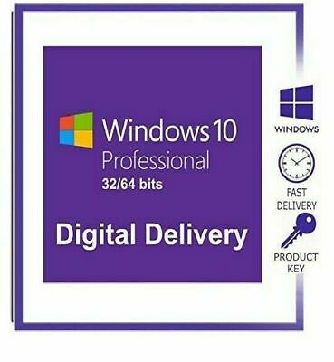 Microsoft Windows 10 Pro Genuine License Product Code 32/64-Bit Activation Key..
