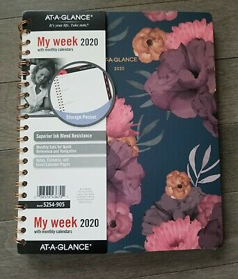 """AT-A-GLANCE 2020 Weekly """" Monthly Planner 8-1/2"""" X 11"""" Dark Romance(Please read)"""