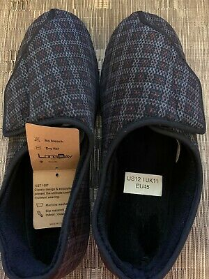 Men's Memory Foam Diabetic Slippers Comfy Warm Plush Fleece by LongBay