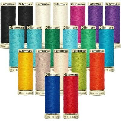 10 X Gutermann Sew All Polyester sewing Thread BRAND NEW.