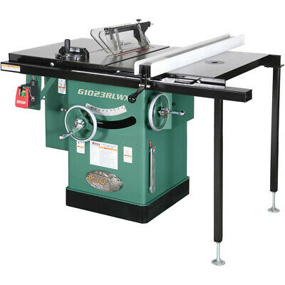 Grizzly G1023RLWX 240V 10 Inch 5 HP 240V Cabinet Left-Tilting Table Saw