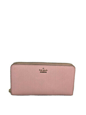 Kate Spade New York Rose Pink Saffiano Leather Cameron Street Lacey Wallet