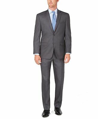 Marc New York Mens Suit Gray Size 36 Two Button Modern-Fit Solid $395 311