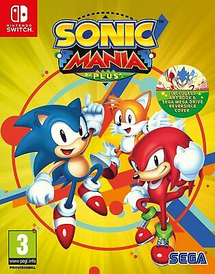 Sonic Mania Plus - Nintendo Switch [Art Book, Sega Mega Drive Slip Cover] NEW