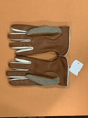 Saks Fifth Avenue NWT 100% Cashmere Lined & Leather Luxury Men's Gloves w/ tags