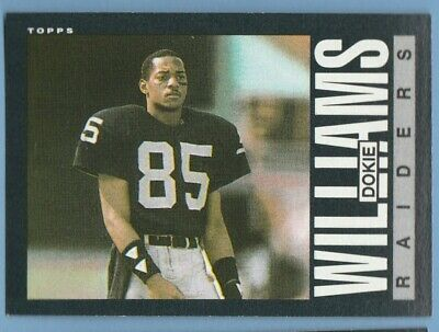 1985 Topps #298 Dokie Williams Oakland Los Angeles Raiders Combined Shipping