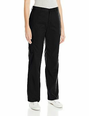 Dickies Womens Pants Black Size 16 Petite Relaxed Straight Cargo Stretch $44 038