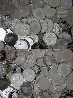 Emergency 90% Silver Junk Coins 10.00 Face Value Silver Proof State/ATB Quarters