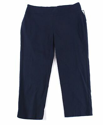 Charter Club Womens Pants Blue Size 16W Plus Short Slim-Leg Stretch $79 251