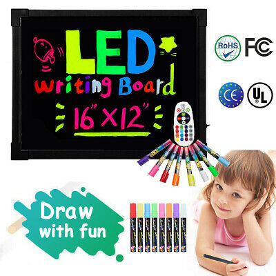 LED Writing Board light up Kids Painting Drawing Tablet Sensory Magic Erasable
