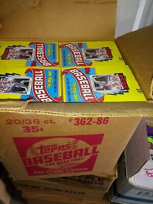 1986 Topps Baseball Wax Box from Sealed case fresh
