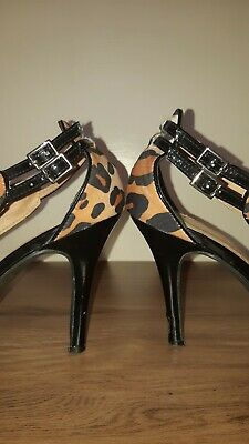 Novo Shoes Leopard Print and Leather - Size 7