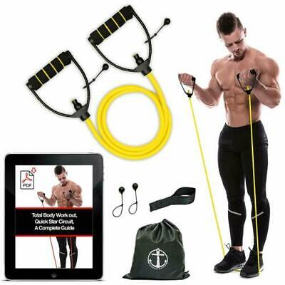Resistance Band Tube Workout Exercise Elastic Band Fitness Equipment Yoga home