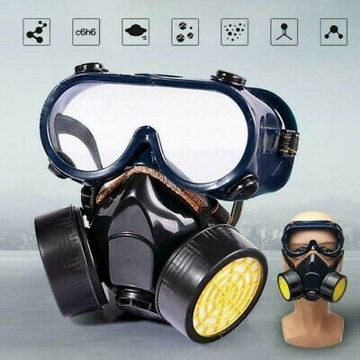 Gas Protect Survival Safe Chemical Anti-Dust Emergency Filter Face Goggles Kit