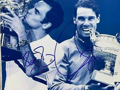 Roger Federer + Rafa Nadal TENNIS HAND SIGNED PHOTO AUTHENTIC - 10x8