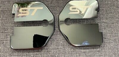 Ford Focus MK2 ST Stainless Steel Door Lock Covers 2 X BLACK EDITION