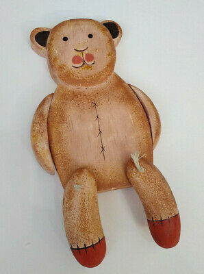 Vintage Hand Wood Teddy Bear Jointed Arms & Legs / 7.5 inches