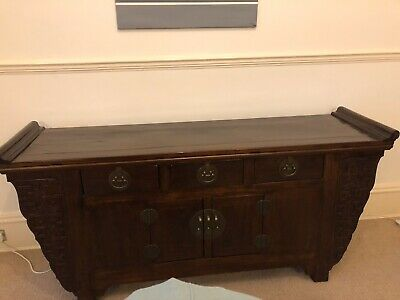 Chinese solid wood antique sideboard storage cabinet